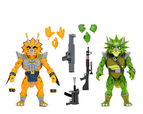 "Teenage Mutant Ninja Turtles (Cartoon) – 7"" Scale Action Figure – Captain Zarax and Zork 2 Pack (International) - PRE-ORDER"