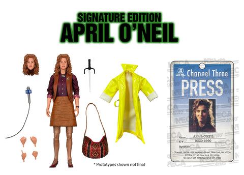 "Teenage Mutant Ninja Turtles - Ultimate April O'Neil (1990 Movie) -7"" Scale-Action Figure - Signature Edition - International - Pre-Order"