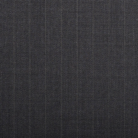 Grey Pinstripe Quartz Super 100's Suiting