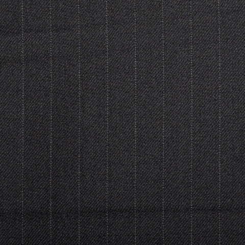 Black Pinstripe Quartz Super 100's Suiting