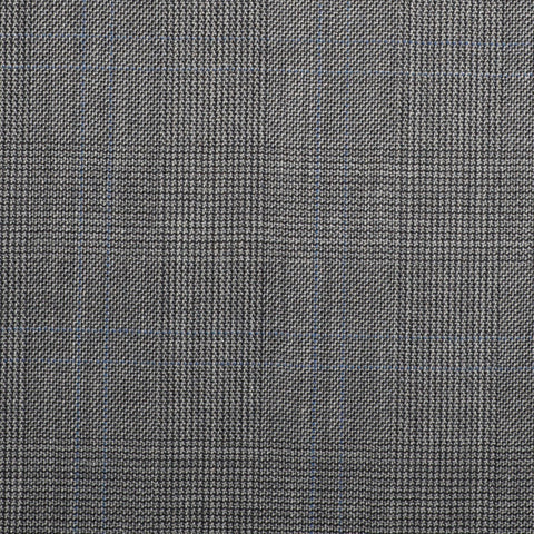 Grey Prince Of Wales With Blue Double Check Quartz Super 100's Suiting