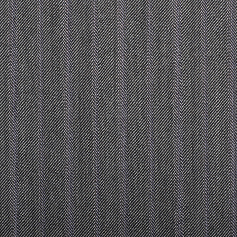 Grey Herringbone With Lilac Stripe Quartz Super 100's Suiting