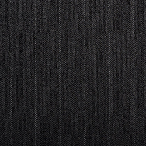 Black Chalkstripe Quartz Super 100's Suiting
