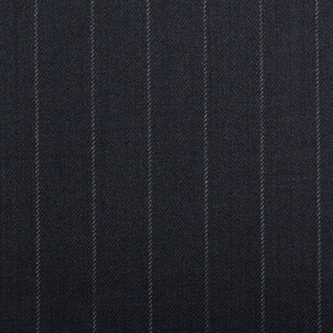 Navy Chalkstripe Quartz Super 100's Suiting
