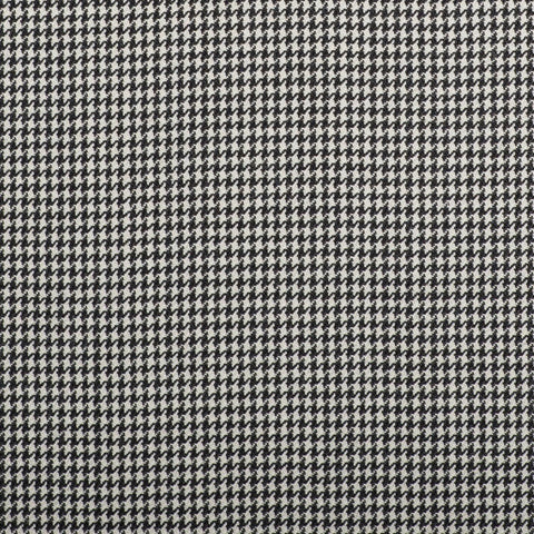 Black And White Dogtooth Check Quartz Super 100's Suiting