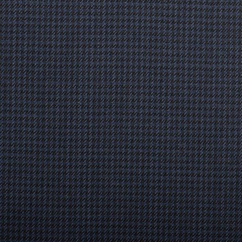 Black And Navy Dogtooth Check Quartz Super 100's Suiting