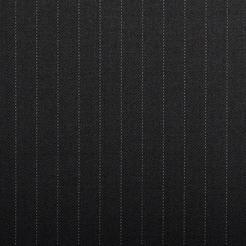 Black Pinstripe Crystal Super 130's Suiting