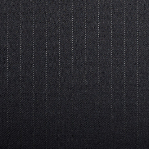 Navy Pinstripe Crystal Super 130's Suiting