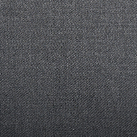 Medium Grey Plain Twill Crystal Super 130's Suiting