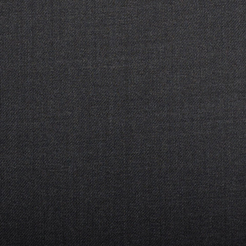 Dark Grey Plain Twill Crystal Super 130's Suiting