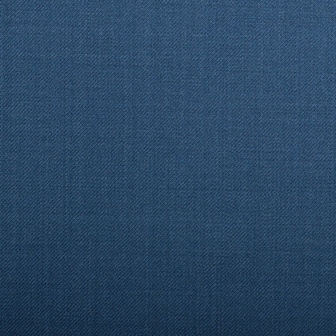 Medium Blue Plain Twill Crystal Super 130's Suiting