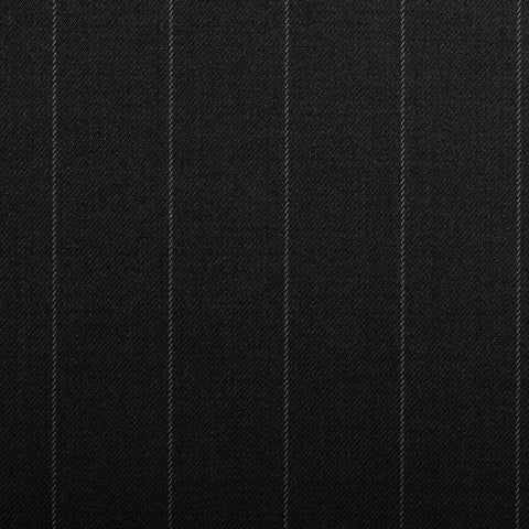Black Rope Stripe Crystal Super 130's Suiting