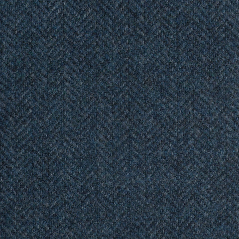 Blue And Black Herringbone Coral Tweed All Wool