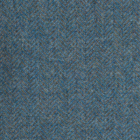 Sea Green Herringbone Coral Tweed All Wool