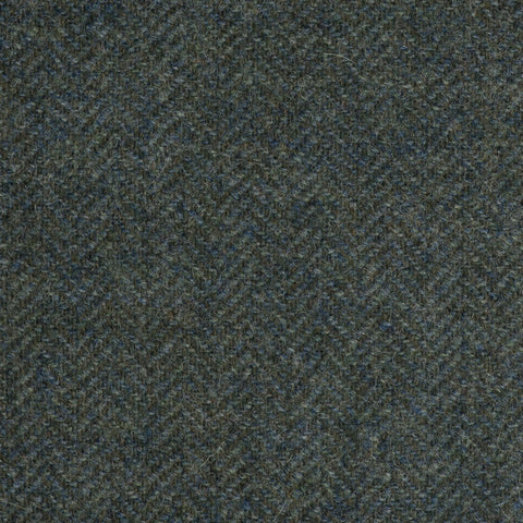 Medium Green Subdued Herringbone Coral Tweed All Wool