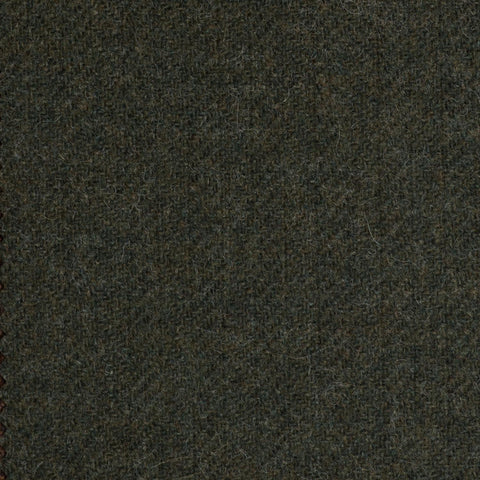 Forrest Green Subdued Herringbone Coral Tweed All Wool