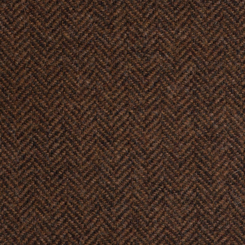 Light Brown/Rust Herringbone Coral Tweed All Wool