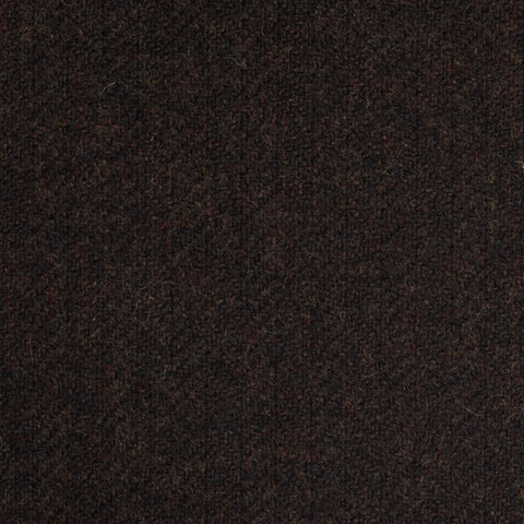 Dark Brown Subdued Herringbone Coral Tweed All Wool