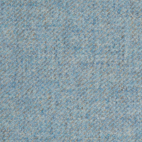 Baby Blue Twill Coral Tweed All Wool