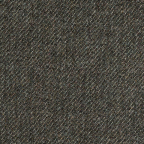 Olive Green Twill Coral Tweed All Wool