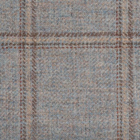 Oatmeal With Cream/Brown/Rust Estate Check Moonstone Tweed All Wool