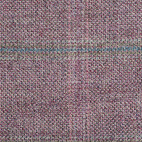 Pink With Blue And Green Check Moonstone Tweed All Wool
