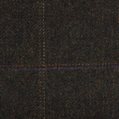 Dark Green With Rust/Gold/Purple Check Moonstone Tweed All Wool