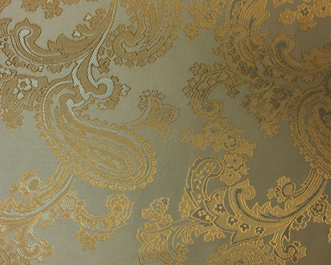 Cream And Silver Paisley Lining 50% Viscose 50% Acetate