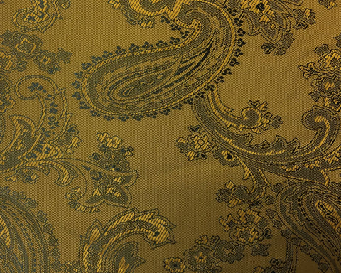 Gold And Black Paisley Lining 50% Viscose 50% Acetate