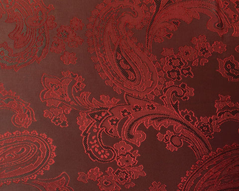 Red And Black Paisley Lining 50% Viscose 50% Acetate