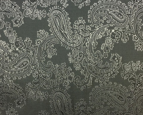 Grey And Black Paisley Lining 50% Viscose 50% Acetate