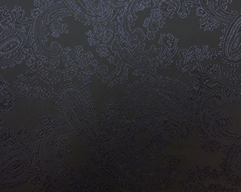 Midnight Navy Paisley Lining 50% Viscose 50% Acetate