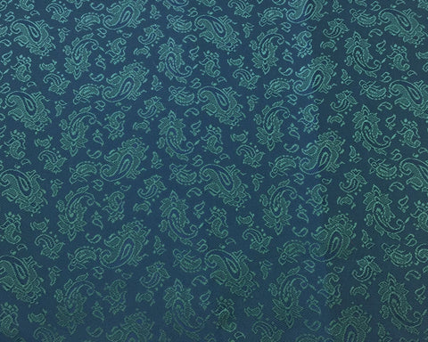 Blue And Green Paisley Lining 50% Viscose 50% Acetate
