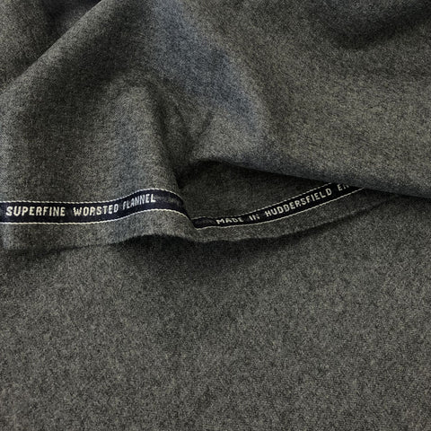 Medium Grey Plain Flannel Suiting Jacketing