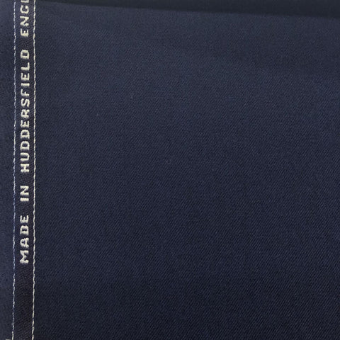 Navy Plain Flannel Suiting Jacketing