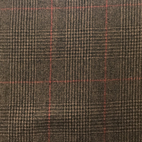 Brown POW With Red Check Flannel Suiting