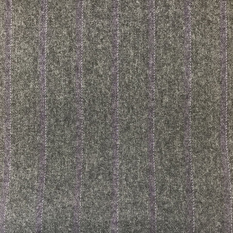 Grey With Purple/Lilac Stripe Flannel Suiting
