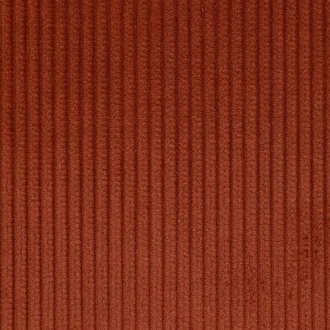 Rust 8 Wale Corduroy 100% Cotton