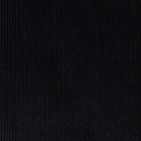 Black 12 Wale Corduroy 100% Cotton