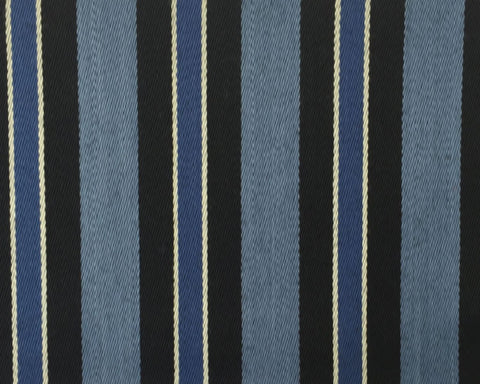 Sky Blue, Blue, Black And White Blazer/Boating Stripe 1 3/4'' Repeat Jacketing