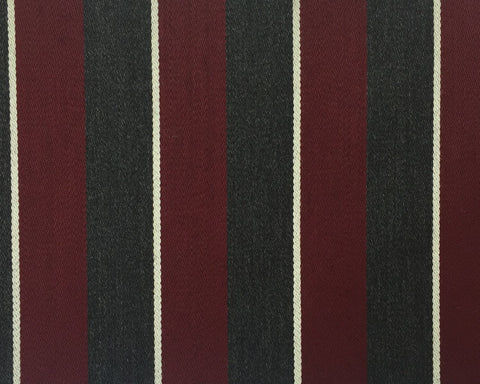 Maroon, Grey And White Blazer/Boating Stripe 2 1/4'' Repeat Jacketing