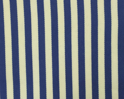 Cream And Blue Blazer/Boating Stripe 3/4'' Repeat Jacketing