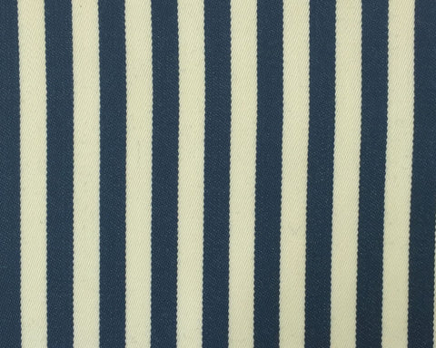 Cream And Midnight Blue Blazer/Boating Stripe 3/4'' Repeat Jacketing