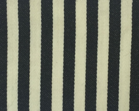 Cream And Black Blazer/Boating Stripe 3/4'' Repeat Jacketing