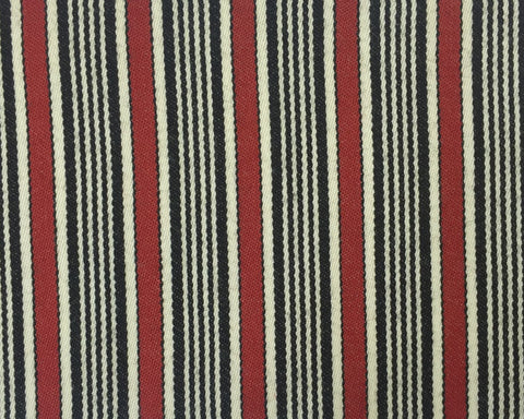 Red, Black And White Blazer/Boating Stripe 1'' Repeat Jacketing