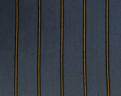 Blue, Yellow And Black Blazer/Boating Stripe 1 1/4'' Repeat Jacketing
