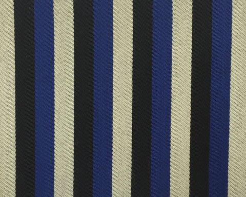 Black, White And Blue Blazer/Boating Stripe 1 1/4'' Repeat Jacketing
