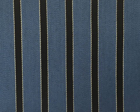 Black, White And Blue Blazer/Boating Stripe 1'' Repeat Jacketing