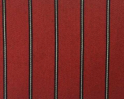 Red, Black And White Blazer/Boating Stripe 1 1/4'' Repeat Jacketing