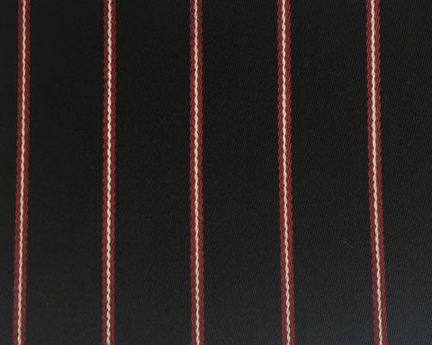 Black, Red And White Blazer/Boating Stripe 1 1/4'' Repeat Jacketing